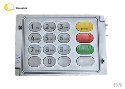Metal V3 Cash Machine Keypad , 4450745408 Cash Machine Pin Pad Silver Color